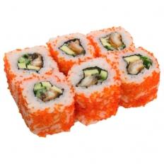 Доставка суши Калифорния с угрем в тобико, Буча, Ирпень, Гостомель, Ворзель