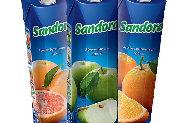 Заказать доставка сок Сандора 1 л Буча, Ирпень, Гостомель, Ворзель