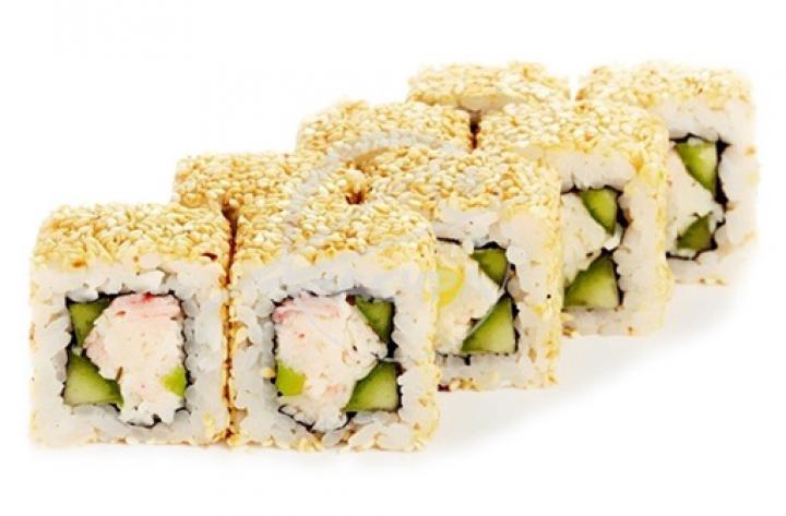Доставка суши Калифорния с крабом в кунжуте, Буча, Ирпень, Гостомель, Ворзель