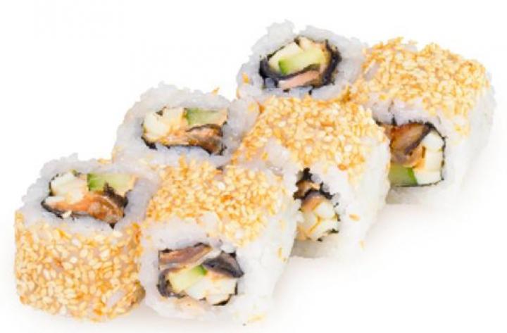 Доставка суши Калифорния с угрем в кунжуте, Буча, Ирпень, Гостомель, Ворзель