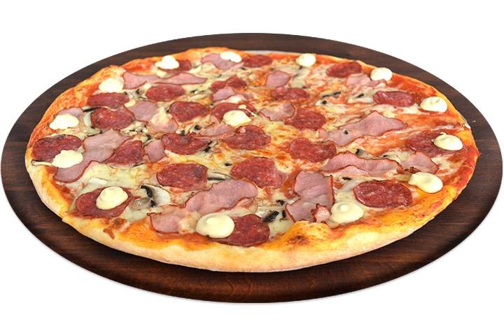 Заказать доставка пицца с колбасой простая в Буча, Ирпень, Гостомель, Ворзель